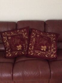 Four red cushions