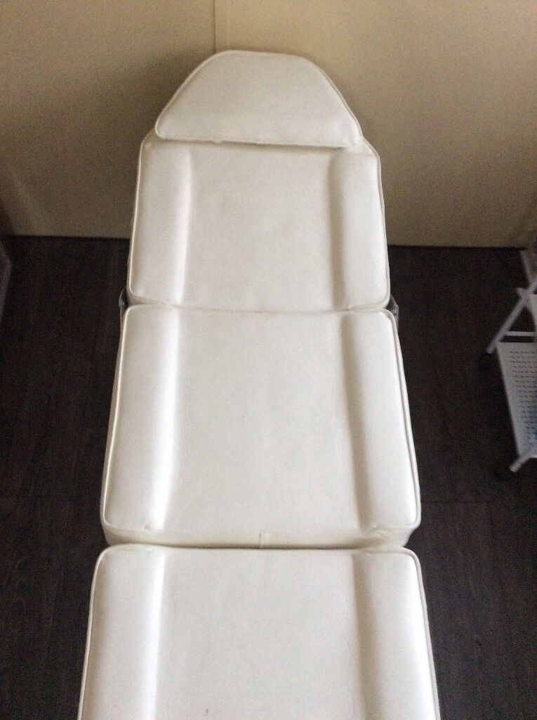 White Massage Table with Handles