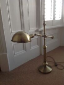 Antique brass look lamp