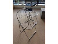 2 X Vintage Ikea Chrome Folding Chairs