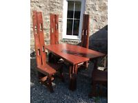 Solid garden table and chairs
