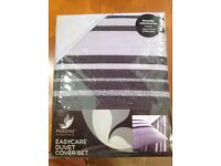 Black and grey reversible duvet set
