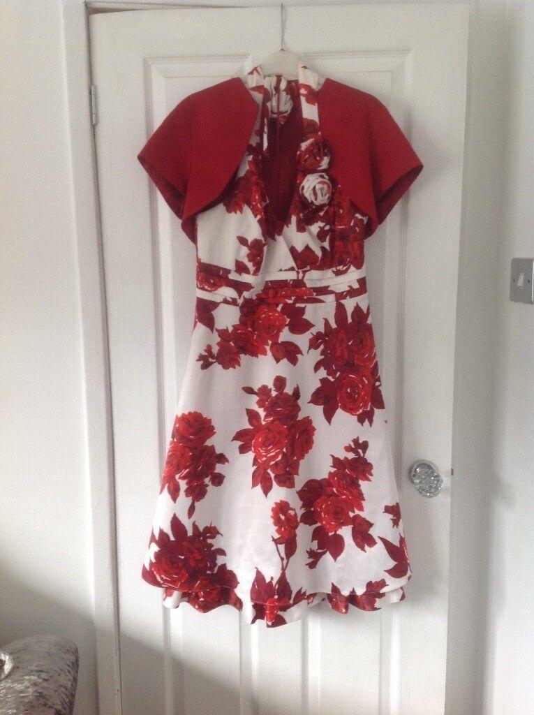 Halter neck debenhams dress and bolero size 12
