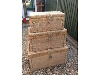 Lovely set of 3 storage chests