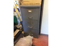 Filing cabinet and metal storage cupboard