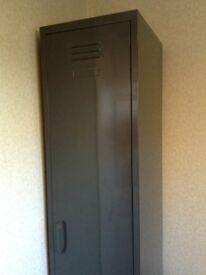 Metal storage locker dark grey