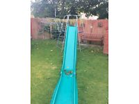 TP Climbing Frame with platform, Monkey Bars with rope, and Rapide Slide