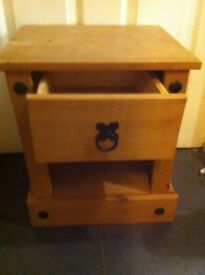 Sold wood bedside table