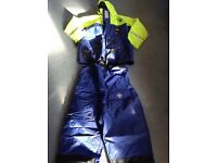 Fladen rescue/thermal suit - jacket and bib/brace trousers