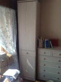 Wardrobe and chest of draws