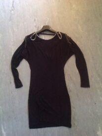 Warehouse black dress, size 8