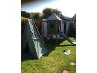 Children's outdoor wooden climbing frame set . Excellent condition