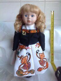 Irish Dancer doll - porcelain doll (f1)