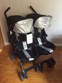 Maclaren twin Techno black/silver double pushchair