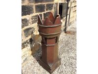 Pair of Victorian Crown Top Chimney Pots
