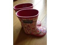 Jo Jo Maman Bebe Floral Wellie Boots size 6