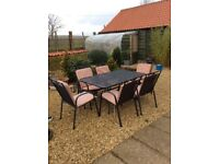 Large Garden table & 6 Chairs Set