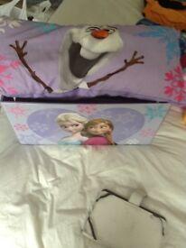 Frozen sleeping bag and pillow