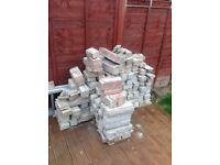 Assortment of decorative and house bricks