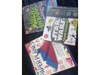Star wars thumb doodle books BN, alien doodle book BN and making paper plans