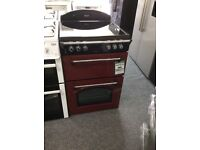 Leisure gourmet electric cooker with double oven red new 12 mth gtee