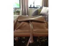 Clarks BRAND NEW tan leather rucksack/handbag