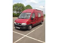 Fiat Ducato Camper Van, Excellent Cond, Diesel, MOT,Drive away awning, wind out side canopy.