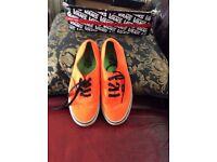 Ladies neon orange vans