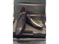 MENS SILVER STREET LEATHER SUIT SHOES BRAND NEW WITHOUT TAGS SIZE UK12