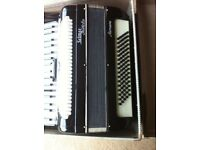 Piano Accordion-Selmer Invicta Genoa, 41 keyboard/ 120 bass and 3 sets of reeds.