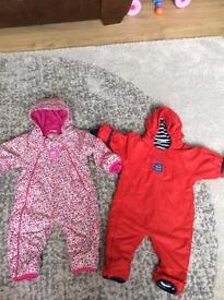 Jojomamabebe all in ones, boys & girls 6-9m