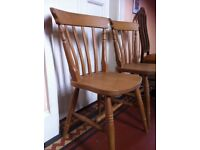 2 Pine Farmhouse Chairs / Can Deliver