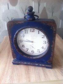 Large Blue Shabby Chic Floor Clock