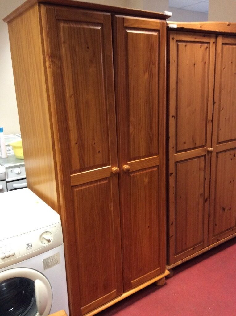 Pine wardrobe delivery available