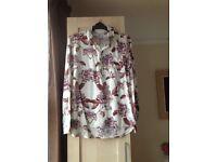 'Drop Dead' mens' medium floral shirt