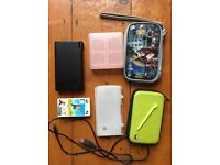 Nintendo DS in black with accessories