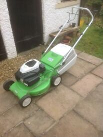 For Sale: Viking MB253T self-propelled petrol lawnmower. Three years old, 20 inch cutting width.
