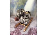 Rocking zebra horse with sound
