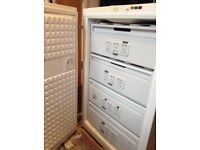 Bosch freezer 105l approx 87cm tall, 58cm front to back, 58cm wide (inc hinges)