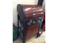 Brinkman gas bbq with cover and gas canister good condition