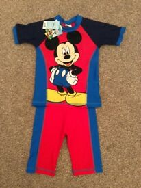 BNWT Disney Mickey Mouse Swimwear 3-4 Years