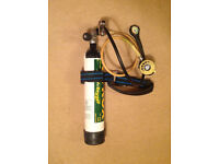 APEX pony package - 3L pony cylinder & regulator (DS1 1st stage with ATX40 2nd stage) - DIN fitting