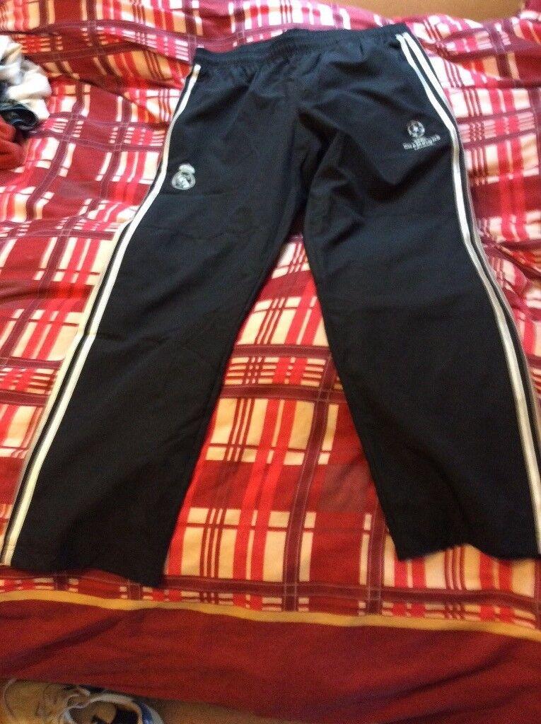 Real Madrid adidas pants champions league size 42/44