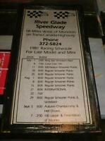 River Glade Speedway - 1981 Season Racing Schedule -mounted