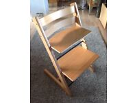 Stokke Tripp Trapp High Chair in Pine. In good condition.