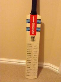 Signed durham cc cricket bat