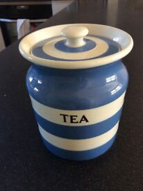 T.G.Green Cornishware Tea Jar 1930 - 1950's