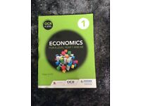 Economics for A level Year 1 and AS. OCR A Level book, used for sale