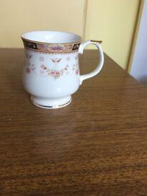 Queen's Fine Bone China Mug with Gold Rim