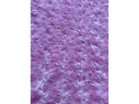 Pink rosebud soft throw